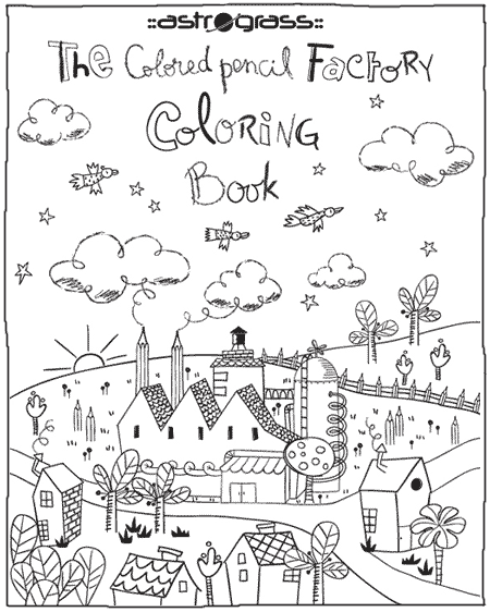Front Page The Colored Pencil Factory Coloring Book
